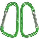 Ultimate Survival Technologies 8cm Carabiner Clips - 2-Pack, Assorted Colors (20-02113-12)