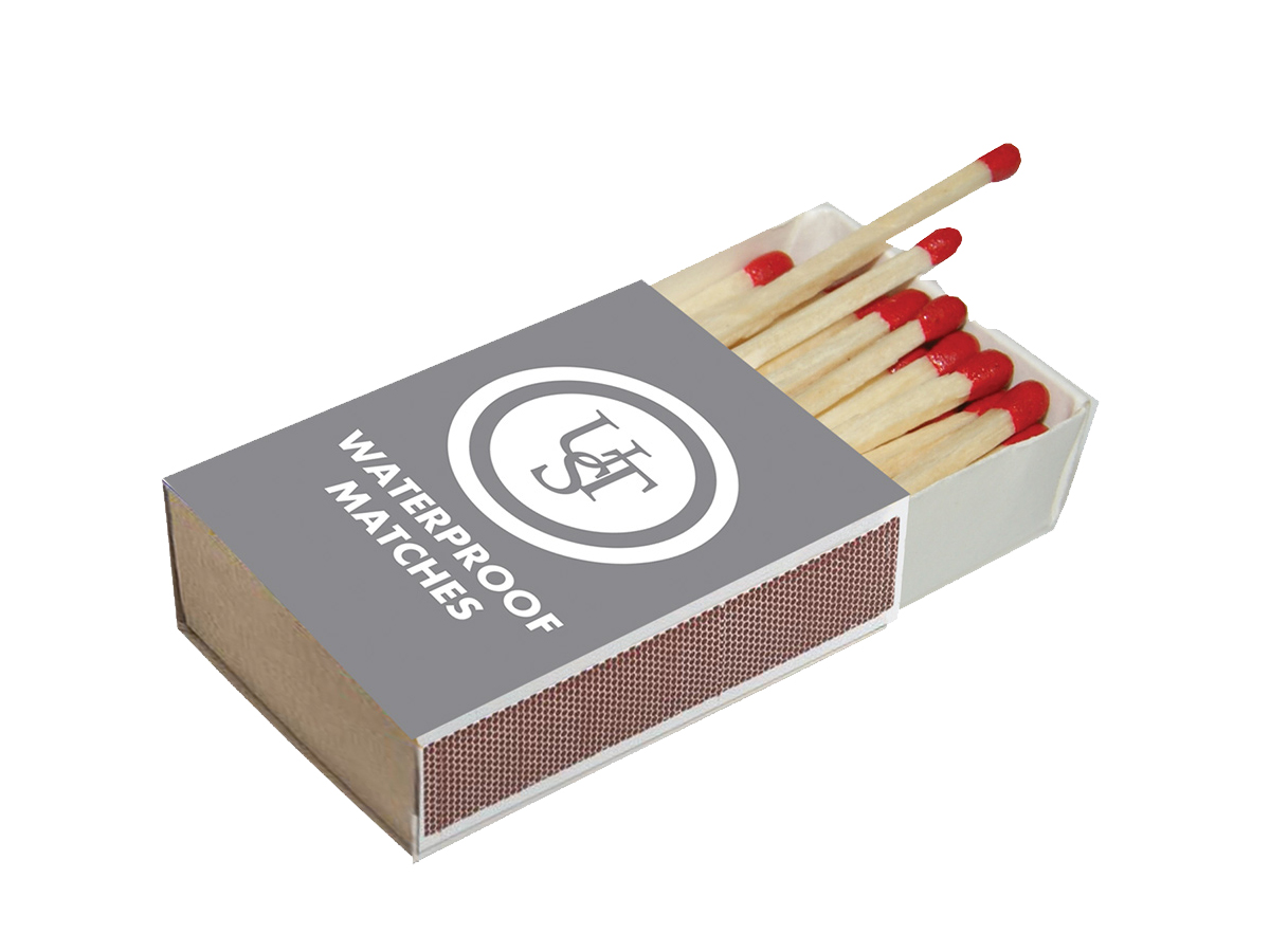 Ultimate Survival Technologies Waterproof Matches - Includes 4 x Boxes with Striking Surface - 40 Matches Per Box (20-02118-02)