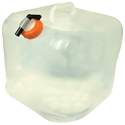 Ultimate Survival Technologies Water Carrier Cube with Spigot - 5 Gallons - Folds Flat - Clear (20-02134-10)