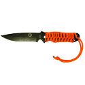 Ultimate Survival Technologies ParaKnife FS 4.0 Fixed Blade Knife with Paracord - 4-inch Partially Serrated - Includes Flint Fire Starter - Nylon Sheath - Glo (20-02232-15) or Orange (20-02232-08)