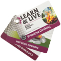 Ultimate Survival Technologies Learn and Live Pocket Guide - Primitive Cooking - 10 Informative Cards for Outdoor Cooking Techniques (20-02744)
