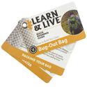 Ultimate Survival Technologies Learn and Live Pocket Guide - Bug Out Bag - 10 Informative Cards for Emergency Prep (20-02748)