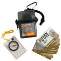 Ultimate Survival Technologies Learn and Live Way Finding Kit Combo - Pairs Pocket Guide with Compass (20-02758)