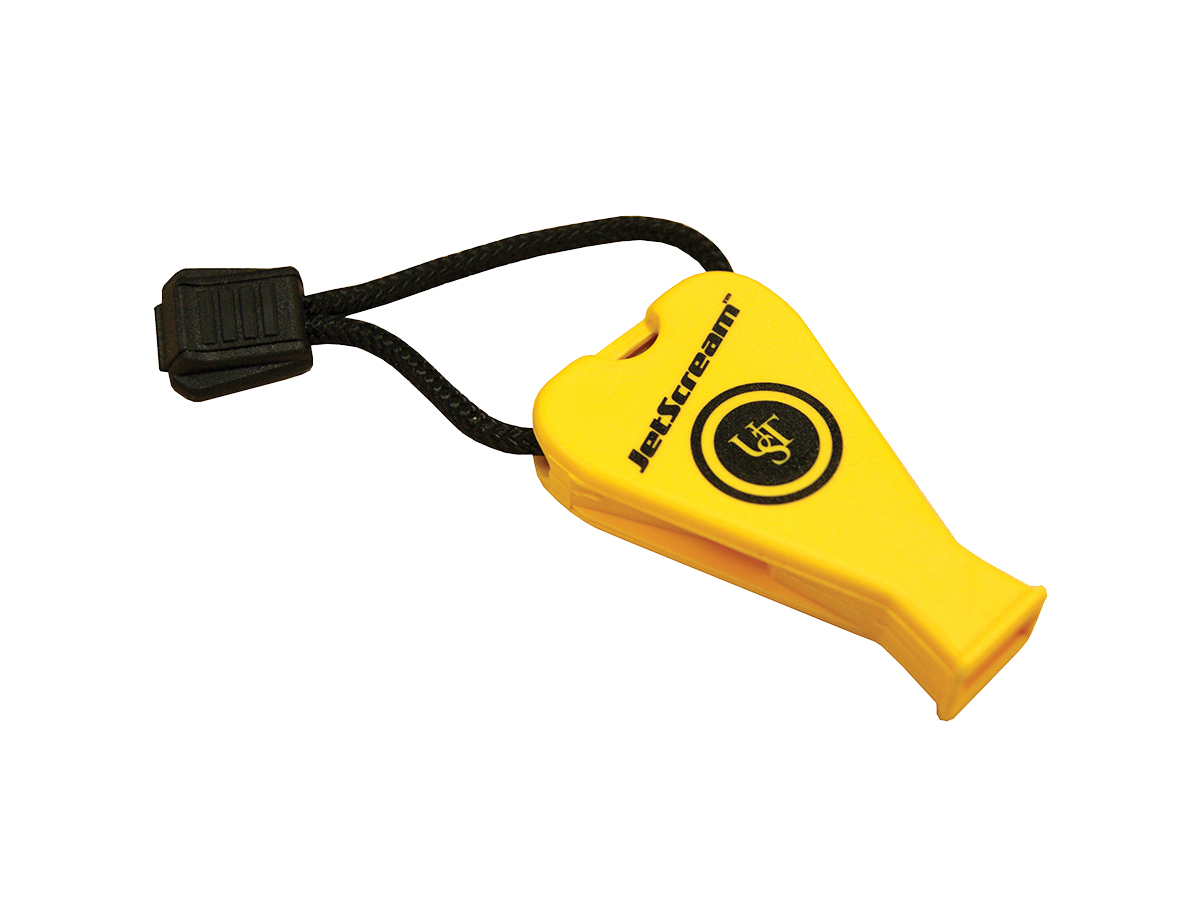 Ultimate Survival Technologies JetScream Floating Whistle / Emergency Signaling Device - 122dB Shriek - Yellow (20-02791)