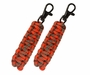 Ultimate Survival Technologies ParaTinder Zipper Pull - Includes 2 x 550 Paracord with Fire Tinder - Orange and Gray (20-02986)