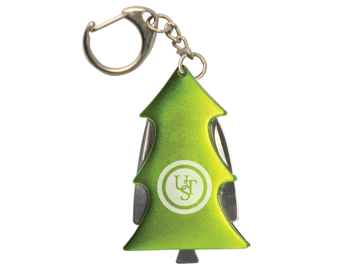 Green Pine Tree Key Chain