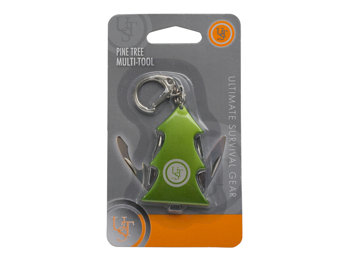 Ultimate Survival Technologies 20-12115 Pine Tree Multi-Tool Key Chain - Green