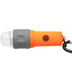 Ultimate Survival Technologies SplashFlash Keychain Light - 5mm Nichia White LED - 25 Lumens - Includes 1 x AAA - Orange (20-17001-08)