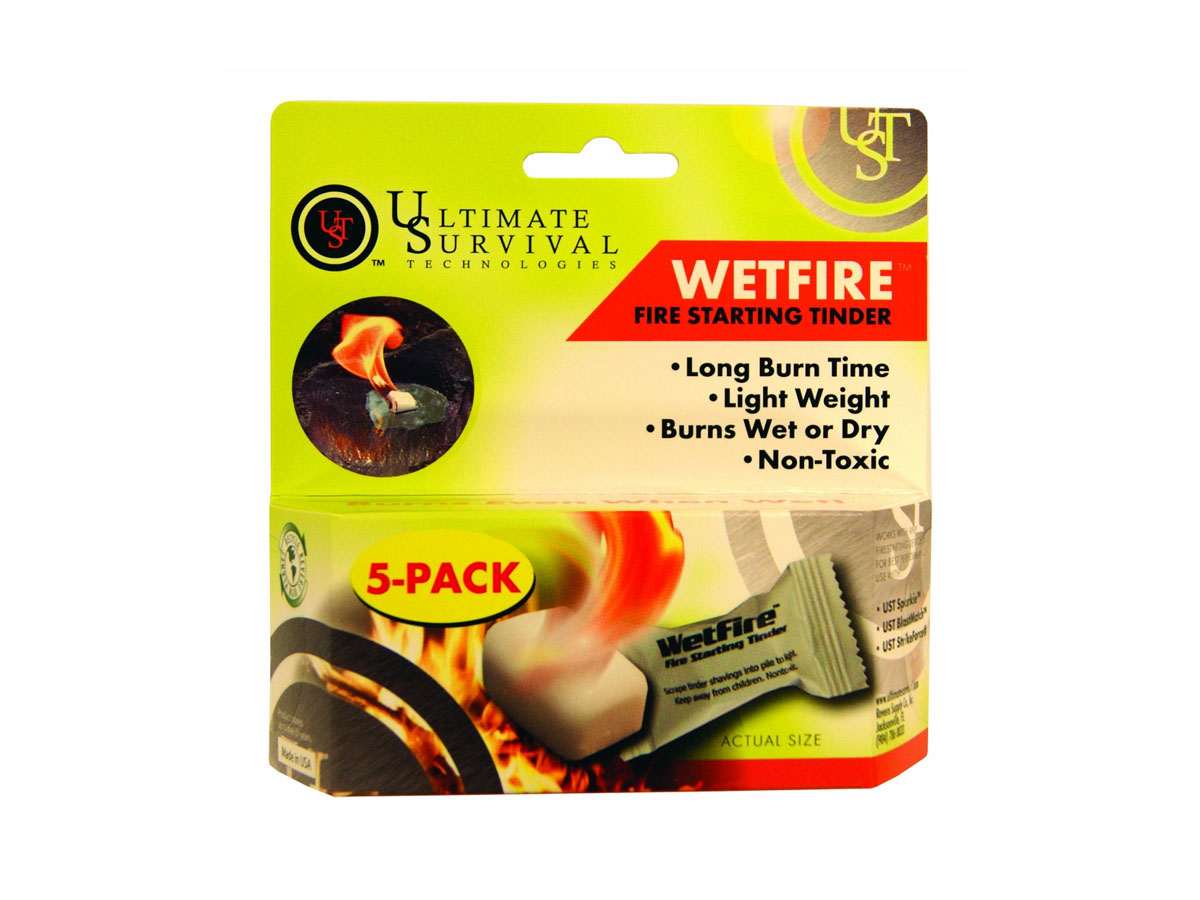Ultimate Survival Technologies WetFire Fire-Starting Tinder - Works with UST Sparking Devices - 5 Pack (20-1WG0412-BX5)