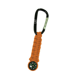 Ultimate Survival Technologies Survival Key Chain with Compass - 4.5 Feet of Paracord - Orange (20-295-478-08)