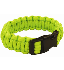 Ultimate Survival Technologies Survival Bracelet - 8-inch Wrist Band with Nylon Buckle - 8 Feet of Paracord - Lime (20-295BB-32)