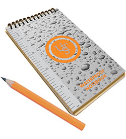 Ultimate Survival Technologies Paper Pad with Pencil - 3 x 5-inch Tear-Proof and Waterproof 50-Page Notebook (20-310-116)