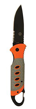 Ultimate Survival Technologies SaberCut Folder 3.5 Folding Knife - 3.5-inch Partially Serrated - Glo (20-51163-1-15)