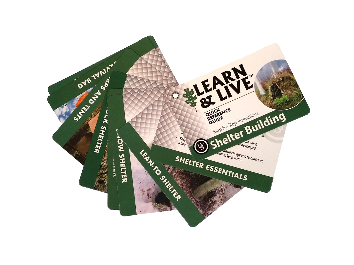 Ultimate Survival Technologies Learn and Live Pocket Guide - Shelter Building - 9 Informative Cards for Building Shelter (20-80-1045)