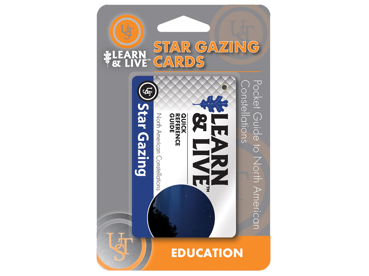 Ultimate Survival Technologies Learn and Live Pocket Guide - Star Gazing - 6 Informative Cards for Recognizing Constellations (20-80-1050)
