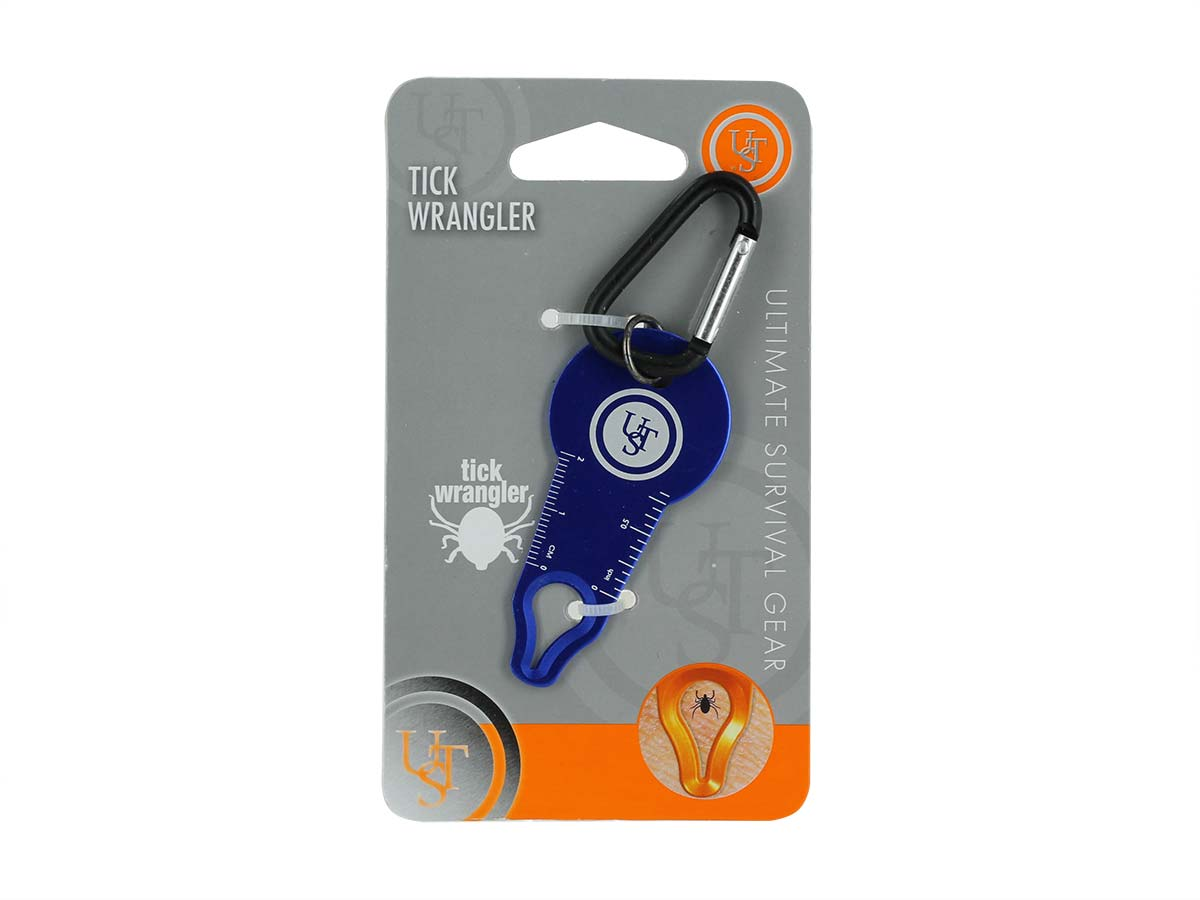 Ultimate Survival Technologies Tick Wrangler with Carabiner Clip - Aluminum - Assorted Colors (20-BUG0004-08)