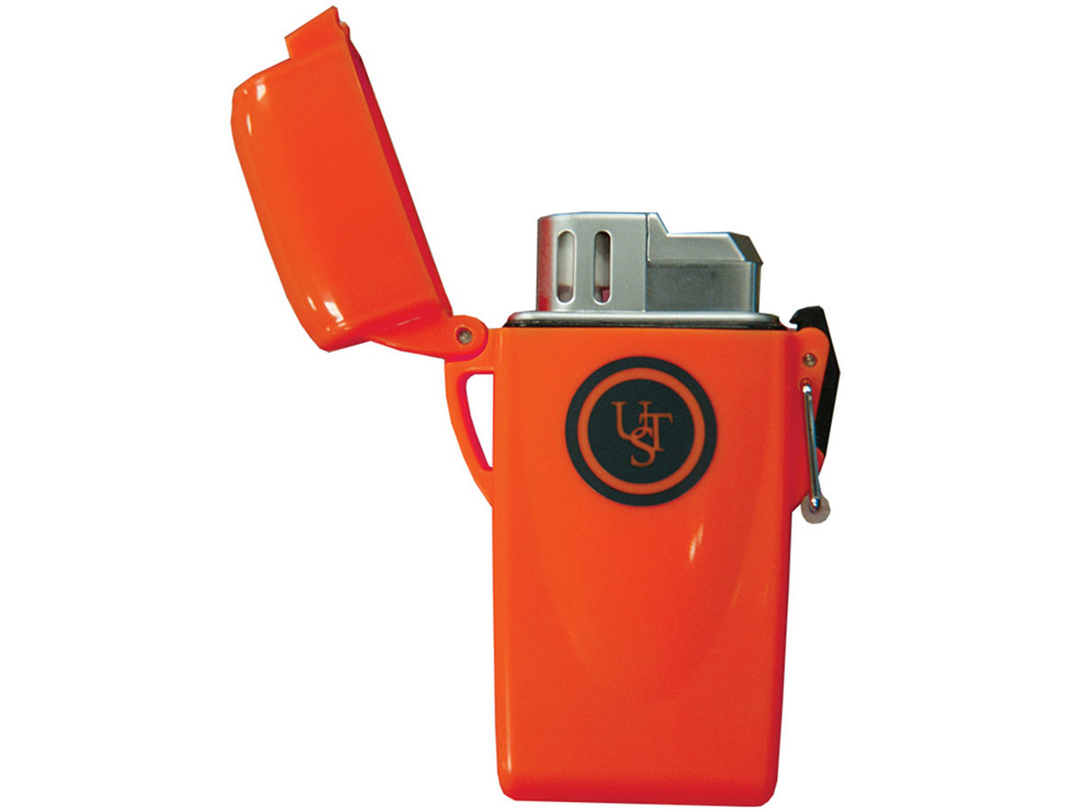 Ultimate Survival Technologies Stormproof Floating Butane Lighter / Fire Starter - Orange