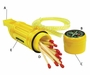 Ultimate Survival Technologies 5-in-1 Survival Tool - Includes Compass, Whistle, Mirror, Matches & Fire Starter - Yellow (20-02792)