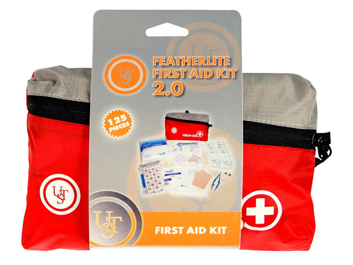 Ultimate Survival Technologies FeatherLite First Aid Kit 2.0 - Includes Bandages and Medicine - Red (80-30-1455)