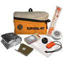 Ultimate Survival Technologies FeatherLite Survival Kit 1.0 - Includes Compass, Blanket, Poncho, Whistle, Light Stick, Mirror, Towel and Matches - Orange (20-721-01)