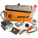 Ultimate Survival Technologies FeatherLite Survival Kit 2.0 - Include Compass, Blanket, Poncho, Whistle, Knife, Light Stick, Flashlight, Mirror, Towel and Matches - Orange (20-723-01)