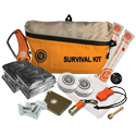 Ultimate Survival Technologies FeatherLite Survival Kit 3.0 - Includes Compass, Blanket, Poncho, Whistle, Knife, Light Stick, Flashlight, Fire Starter, Mirror, Towel and Fire Tinder - Orange (20-725-01)