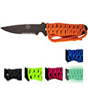 Ultimate Survival Technologies SaberCut Para Knife 3.0 Fixed Blade Knife - 3-inch Partially Serrated Edge - Paracord-Wrapped - Available in Blue, Fuchsia, Lime, Orange, Black, and Glow in the Dark