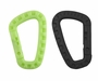 Ultimate Survival Technologies Tactical Biner / D-Shaped Carabiner Clip - Polymer Plastic Material with Textured Surface - Black (20-BNR0011-01) or Glo (20-02751)