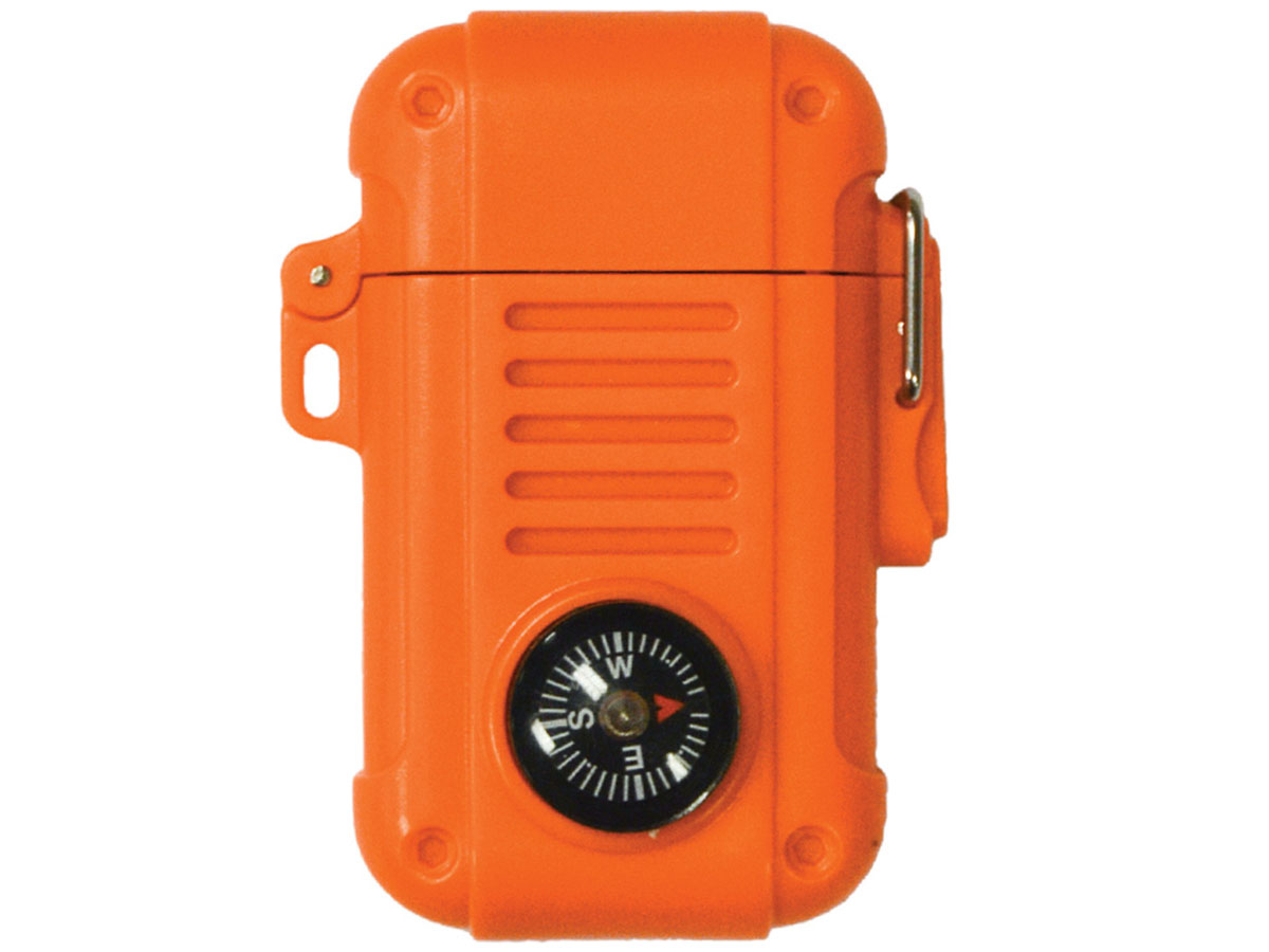 Ultimate Survival Technologies Wayfinder Lighter - Butane Fire Starter with Built-in Compass - Orange (20-02975)