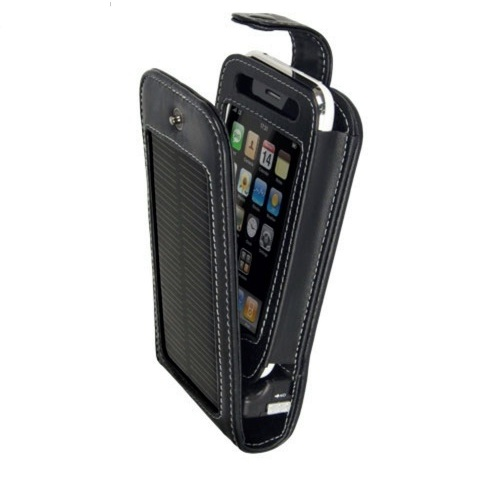 Wagan 2561 Exec Duo-Solar iPhone Charger/Leather Case