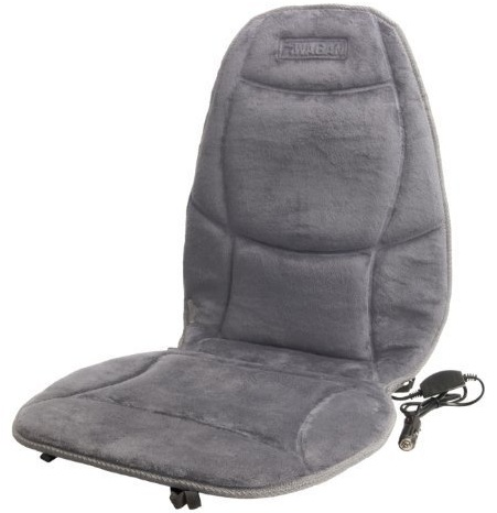 Wagan 9438-2 Velour Heated Seat Cushion (Grey)