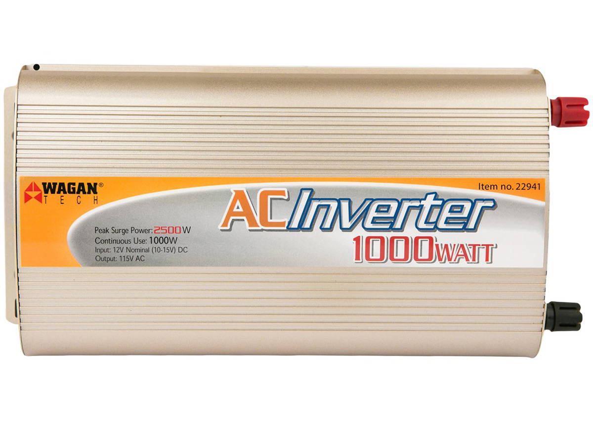 Wagan 1000 Watt Continuous Power Slim Line AC Inverter - Available in 12V, 24V, and 48V (22941)