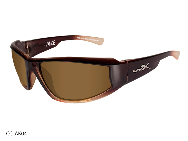Wiley X Jake Sunglasses with High Velocity Protection Climate Control Series in Various Color Schemes (CCJAK01 CCJAK03 CCJAK06 CCJAK07 CCJAK08)