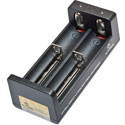XTAR MC2 2-bay USB Portable Li-ion Battery Charger with Cable - Charges 18650, 18500, 14500, 16340, 26650