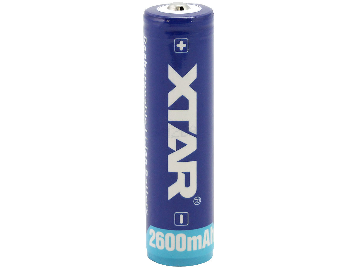 Xtar Samsung ICR 18650 2600mAh 3.7V Protected High-Drain 5.2A Lithium Ion (Li-ion) Button Top Battery - Boxed